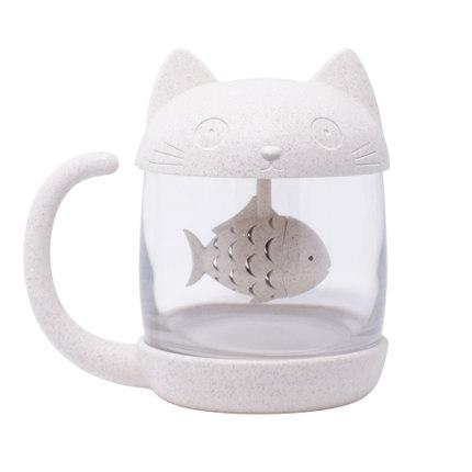 海外充值漫趣二次元猫咪玻璃杯